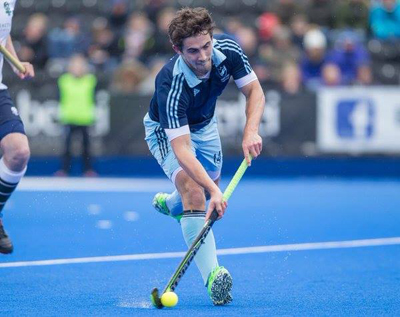 Tim Atkins in action for Scotland